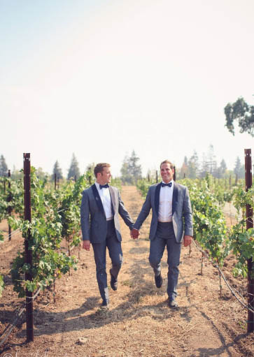 Colorful Winery Wedding