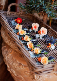 Perfectly Paired Peach and Navy Wedding