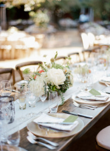 Wedding Reception Table Napa Valley Wine Country