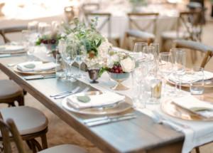 Wedding Reception Table Napa Valley Wine Country