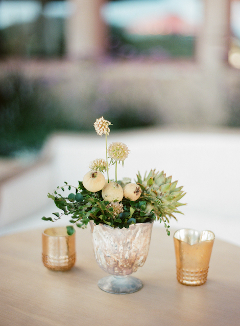 Wedding Succulent Centerpiece In Napa Valley