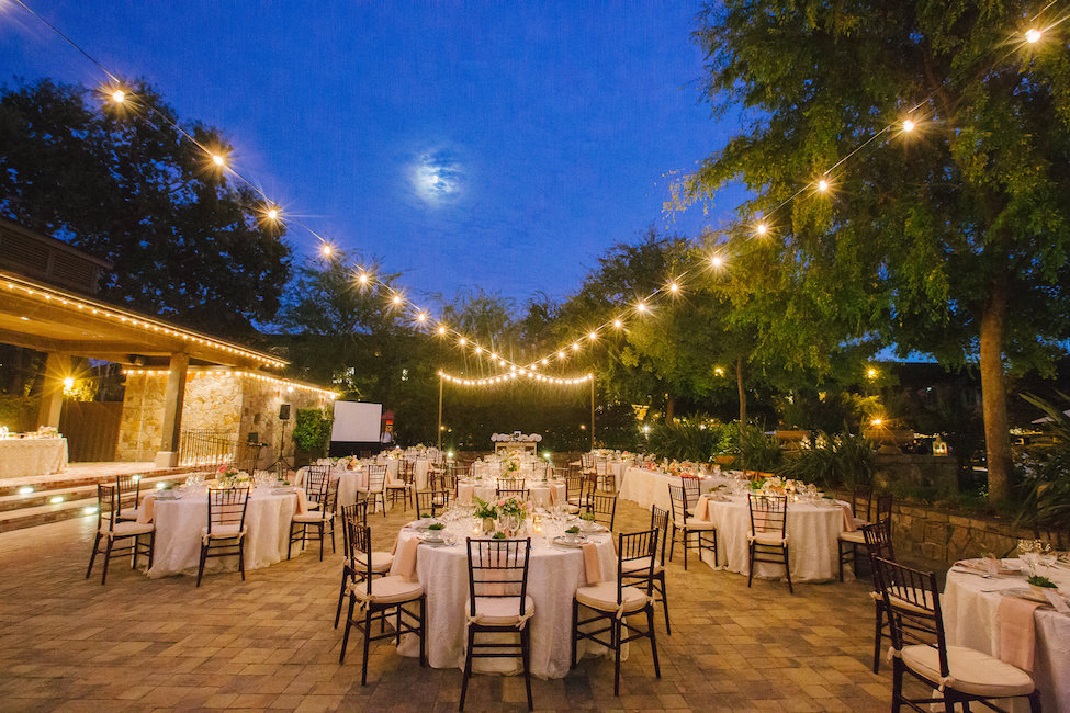Outdoor Wedding Reception In Napa